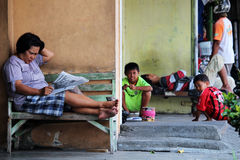 Entspanntes schlechtes Leben in Yogyjakarta Lizenzfreies Stockfoto