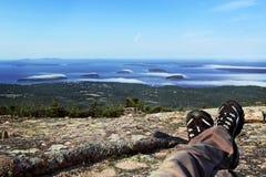 Entspannung auf dem Berg Stockfotografie