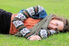 Entspannung auf dem Rasen Stockfotografie