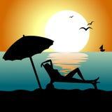 Entspannung auf dem Strand Vektor Abbildung