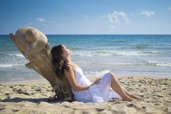 Entspannung auf dem Strand Stockfotografie