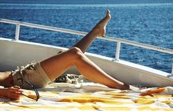 Entspannung auf der Yacht Stockfotografie