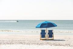 Entspannung auf Floridastrand stockbild