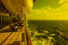Entspannung auf Queen Mary 2 Stockbild