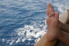 Entspannung auf Schiff Lizenzfreies Stockbild