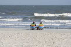 Entspannung auf Strand Stockfotos