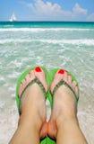 Entspannung auf Strand Stockfotografie