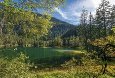 Entspannung an den Tyrol Seen Stockfotografie