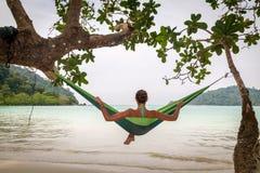 Entspannung in der Hängematte Lizenzfreies Stockfoto