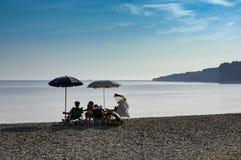 Entspannung an der Küste Stockfoto