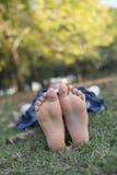 Entspannung in der Natur Stockbilder