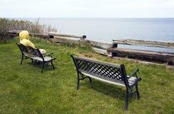Entspannung durch den See stockfotografie