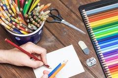 Entspannung durch zeichnendes Konzept Lizenzfreie Stockfotos