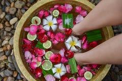 Entspannung für Fuß-Massage 4 Stockfoto