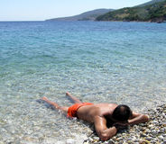 Entspannung in Griechenland Stockbild