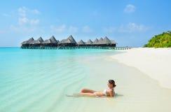 Entspannung im Paradies Lizenzfreie Stockfotos