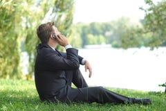 Entspannung im Park Lizenzfreies Stockfoto