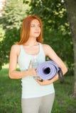 Entspannung mit Yoga Lizenzfreie Stockfotografie
