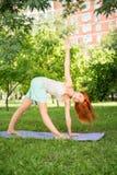 Entspannung mit Yoga Lizenzfreies Stockfoto