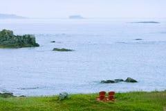 Entspannung in Straße von Belle Isle-Küste NL Kanada Stockfotos