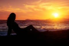Entspannung am Strand Lizenzfreies Stockfoto
