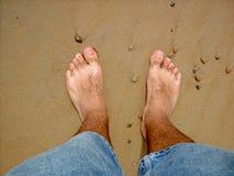 Entspannung am Strand Stockfotos