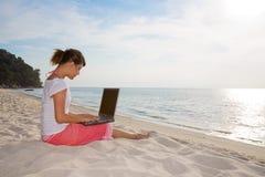 Entspannung und Arbeiten Lizenzfreie Stockfotos
