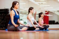 Entspannung und Meditieren lizenzfreie stockfotos