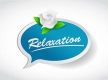 Entspannungsblumenkonzept-Illustrationsdesign stock abbildung