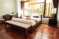 Entspannungsschlafzimmer des Luxusboutiquehotels Lizenzfreies Stockfoto