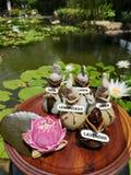 Entspannungstime†‹with†‹Badekurort massage†‹treatment†‹ stockfoto