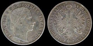 Entsprechend und Rück von Österreich-Münze Stockfoto