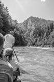 Entspringen Sie in das Pieniny, Kreuzfahrt auf dem Fluss Dunajec Stockfotografie