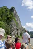 Entspringen Sie in das Pieniny, Kreuzfahrt auf dem Fluss Dunajec Stockbilder