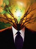 Entsprochener Baum Stockbild