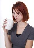 Enttäuschender Kaffee stockfotos