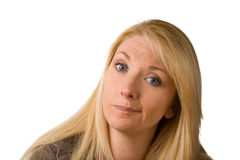 Enttäuschte Frau stockfotografie