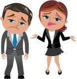 Enttäuschte Geschäftsfrau und Mann Lizenzfreie Stockfotografie