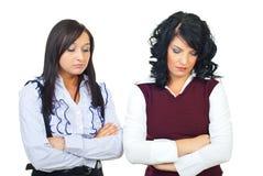 Enttäuschte Geschäftsfrauen Stockbilder