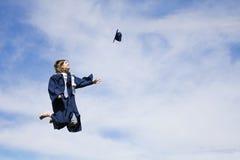 Entusiasmo de la graduación Fotos de archivo