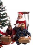 Entusiasmo de la mañana de la Navidad Fotografía de archivo libre de regalías