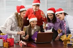 Entusiasmo de la Navidad Foto de archivo libre de regalías