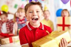 Entusiasmo del cumpleaños Foto de archivo
