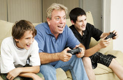 Entusiasmo del juego video Foto de archivo libre de regalías