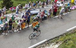 Entusiasmo del Tour de France Fotos de archivo libres de regalías
