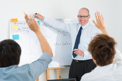 Entusiasmo dell'aula Immagine Stock
