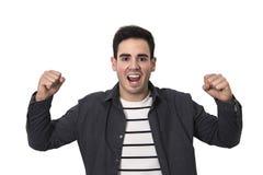 Entusiasmo do homem novo imagem de stock