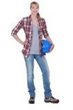 Entusiasta fêmea de DIY Fotografia de Stock Royalty Free