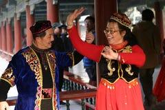 Entusiastas de la danza de Uygur   Imagen de archivo libre de regalías