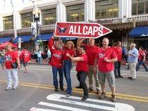 Entusiastiska Washington Capitals Fans Arkivfoto